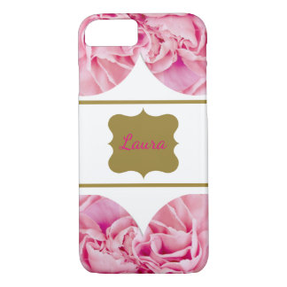 Luxury Pink floral personalized iPhone 8/7 Case