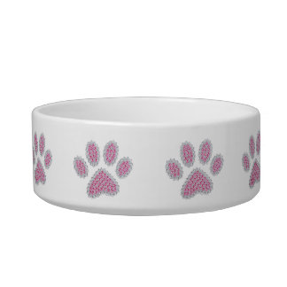 Luxury Pink Paw Print Bowl