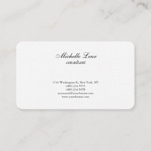 Pharmacy business cards zazzle uk luxury premium linen black white plain classical business card reheart Image collections
