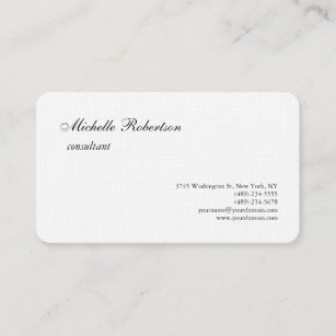 Education consultant business cards business card printing zazzle uk luxury premium linen black white plain minimalist business card reheart Image collections