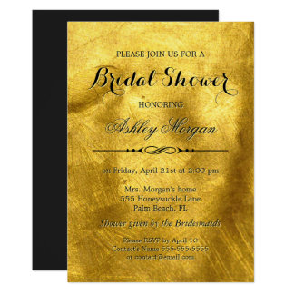 Luxury Pure Gold Foil Texture - Bridal Shower Card