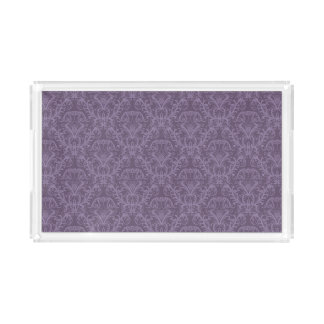 Luxury Purple Wallpaper Acrylic Tray