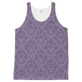 Luxury Purple Wallpaper All-Over Print Tank Top