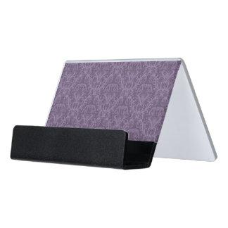 Luxury Purple Wallpaper Desk Business Card Holder