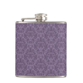 Luxury Purple Wallpaper Hip Flask