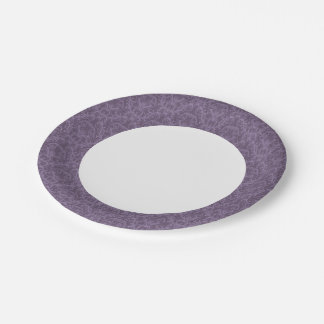 Luxury Purple Wallpaper Paper Plate
