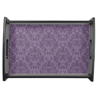 Luxury Purple Wallpaper Serving Tray