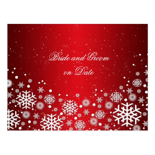 Luxury Red Christmas Spirit Save date card Post Cards