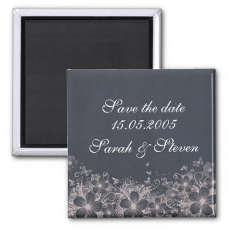Luxury Romantic Spring Save the date Square Magnet