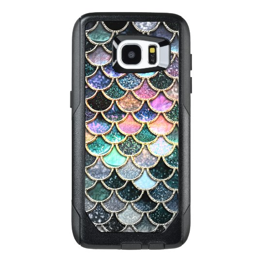 sports shoes 6dbbc 41b46 Luxury silver Glitter Mermaid Scales OtterBox Samsung Galaxy S7 Edge Case