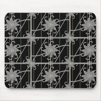 Luxury Silver Ornamental Pattern Mouse Pad