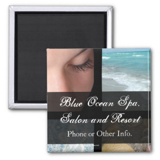 Luxury Spa Resort Theme Square Magnet
