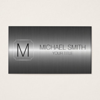 Metal business cards business card printing zazzle uk luxury stainless steel metal monogram business card reheart Image collections