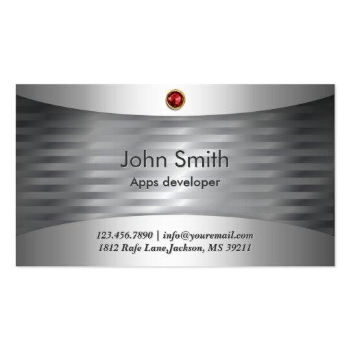 Luxury Steel Apps developer Business Card