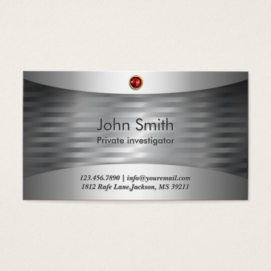 Luxury Steel Investigator Business Card