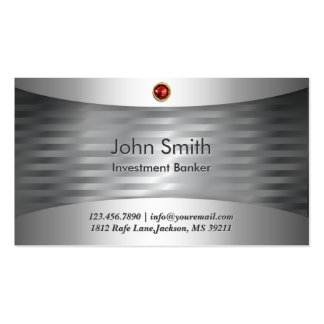 Luxury Steel Investment Banker Business Card