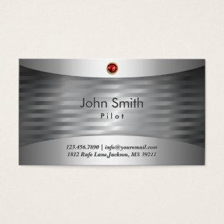 Luxury Steel Pilot/Aviator Business Card