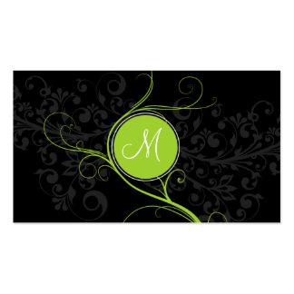 Luxury Swirl Monogram Business Card