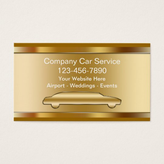 Luxury Taxi Business Cards