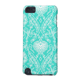 Luxury Turquoise & White Damask Decorative Pattern iPod Touch 5G Cover