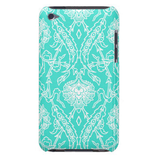 Luxury Turquoise & White Damask Decorative Pattern iPod Touch Case