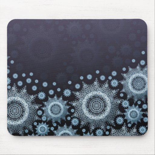 Luxury Winter Holiday Snowflakes Mousepad Mousepad