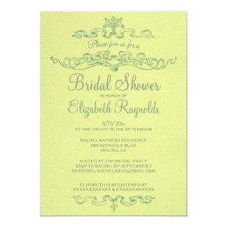 Luxury Yellow & Green Bridal Shower Invitations