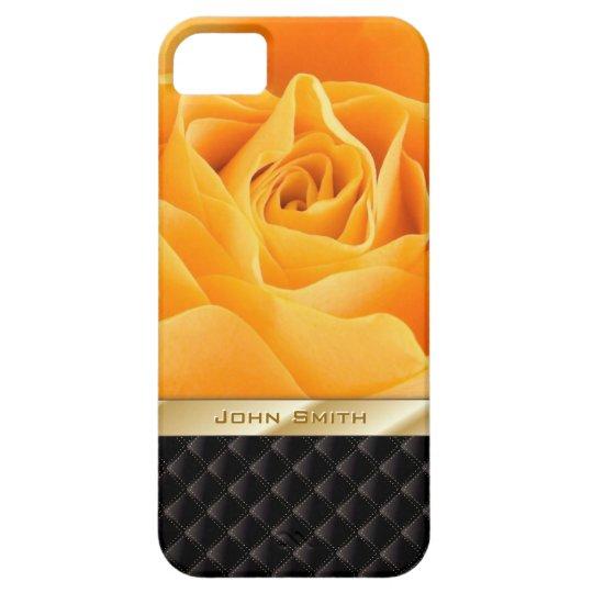 Luxury Yellow Rose w Custom Name iPhone 5 Case