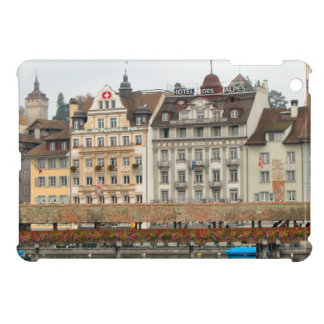Luzern Old bridge and Houses on the waterfront iPad Mini Cover
