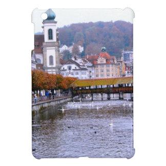 Luzern old bridge and riverfront iPad mini case