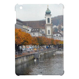 Luzern River front and Jesuit Church iPad Mini Case