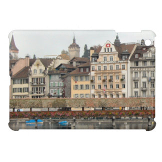 Luzern River front buildings Cover For The iPad Mini