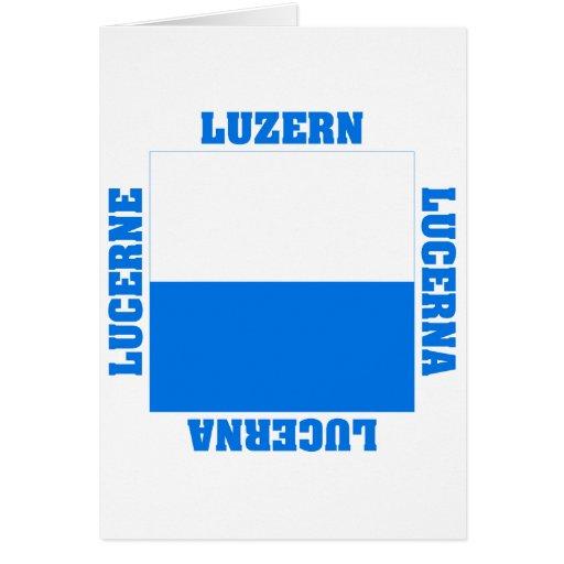 Luzern Switzerland Canton Flag Greeting Cards