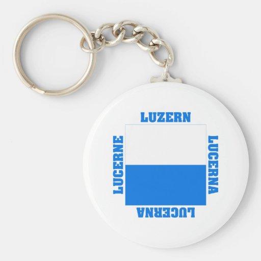 Luzern Switzerland Canton Flag Key Chains