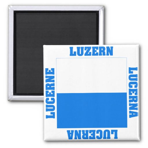 Luzern Switzerland Canton Flag Fridge Magnet