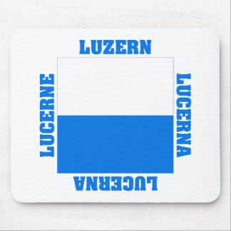 Luzern Switzerland Canton Flag Mouse Pad
