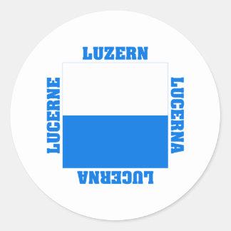 Luzern Switzerland Canton Flag Stickers
