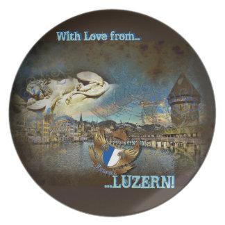 LUZERN Vintage Grunge - Plate