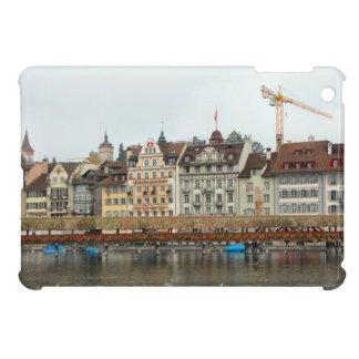 Luzern Waterfront buildings and bridge iPad Mini Cases