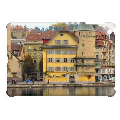 Luzern Waterfront buildings Cover For The iPad Mini