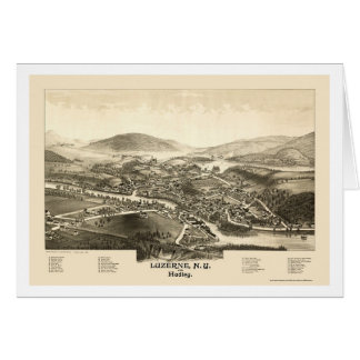 Luzerne & Hadley, NY Panoramic Map - 1887 Greeting Cards