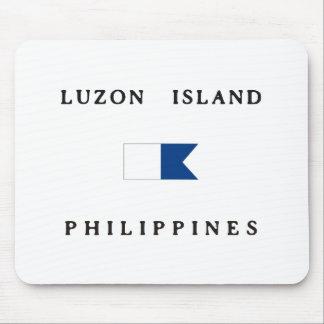 Luzon Island Philippines Alpha Dive Flag Mouse Pads