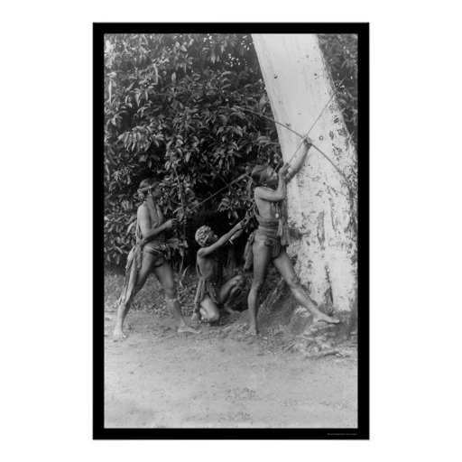 Luzon Natives with Bows and Arrows 1898 Poster