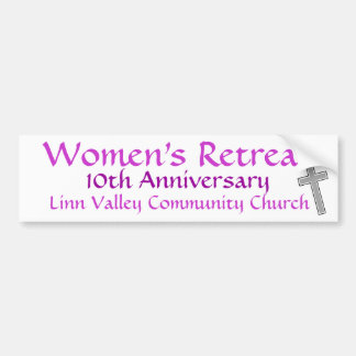 LVCC Women's Retreat Bumper Sticker
