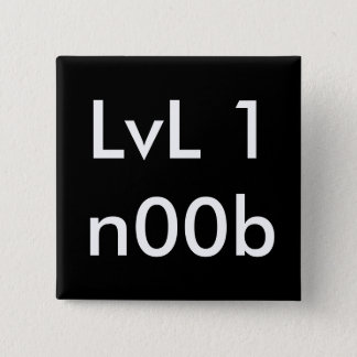 LvL 1n00b 15 Cm Square Badge
