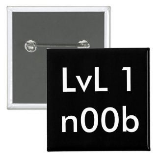 LvL 1n00b 15 Cm Square Badge