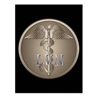 LVN Caduceus Post Cards