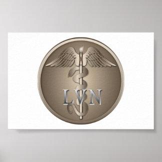 LVN Caduceus Print