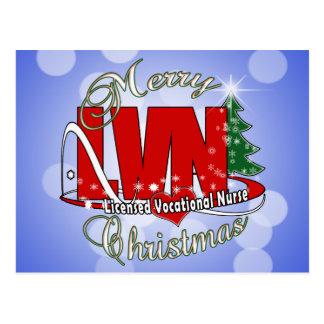 LVN CHRISTMAS Licensed Vocational Nurse Post Cards