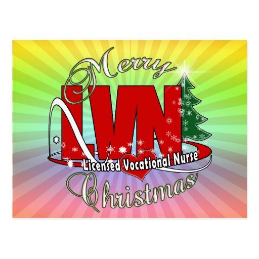 LVN CHRISTMAS Licensed Vocational Nurse Post Card